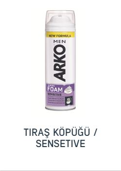 ARKO TRAŞ KÖPÜĞÜ 200 ML SENSİTİVE