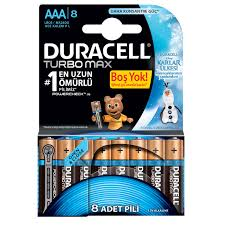 DURACELL TURBO MAX 6+2 AAA İNCE PİL